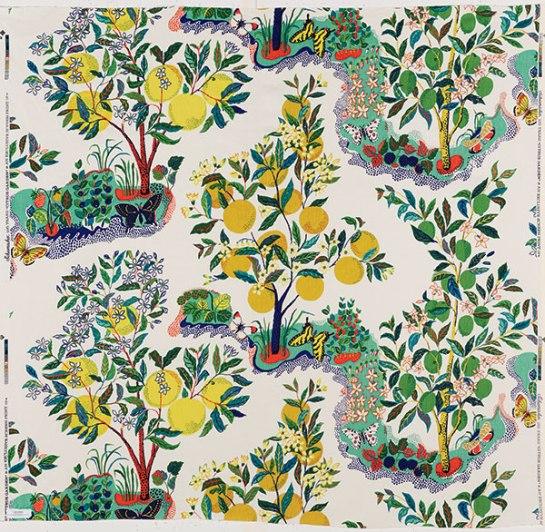 Citrus Garden fabric
