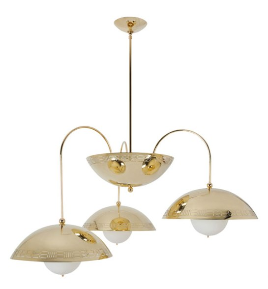 Commune Triple Dome Light from Remains Lighting