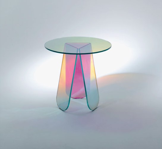 'Tavolini'-round-glass-topped-table,-Patricia-Urquiola-for-Glas-Italia-at-Chaplins